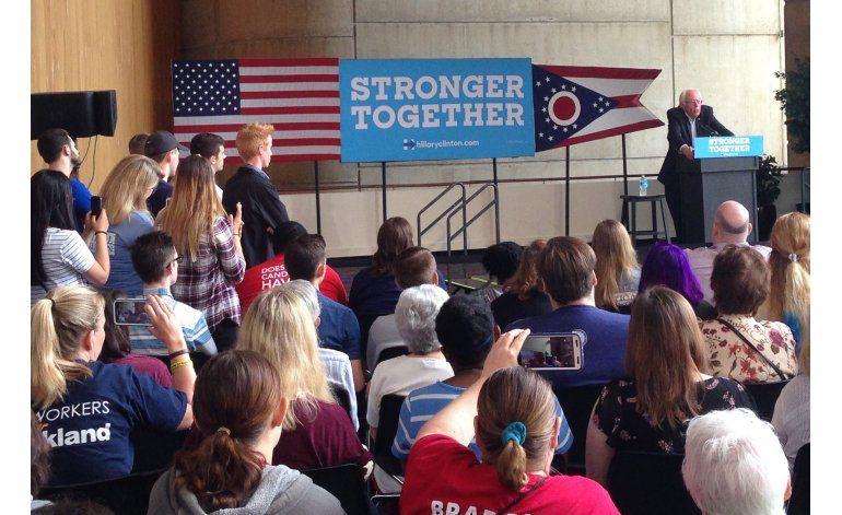 Sanders pide al electorado de Ohio que vote por Clinton