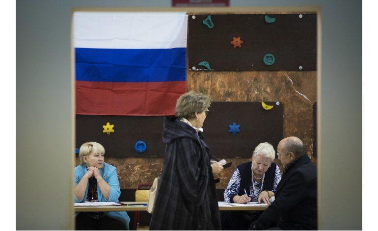 Partido gobernante habría ganado elecciones en Rusia