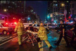 explosion en manhattan: el alcalde de nueva york aseguro que fue un acto intencionado