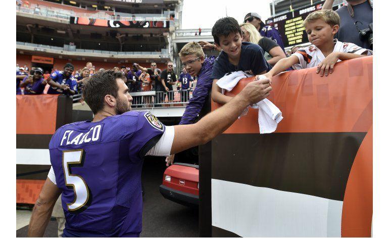 Flacco conduce a Ravens a victoria sobre Browns