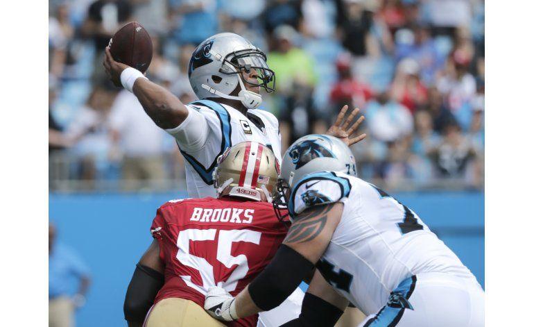 Newton establece marca y Panthers vencen a 49ers