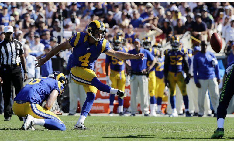 Rams ganan a Seahawks por 9-3 con goles de campo de Zuerlein