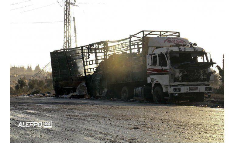 La ONU suspende su ayuda a Siria tras letal ataque a convoy