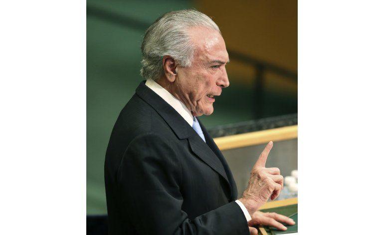 Seis países latinoamericanos repudian a Temer en ONU