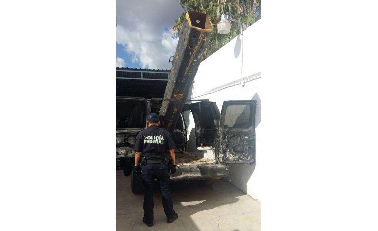 Lanzan drogas a EEUU con cañón de fabricación casera