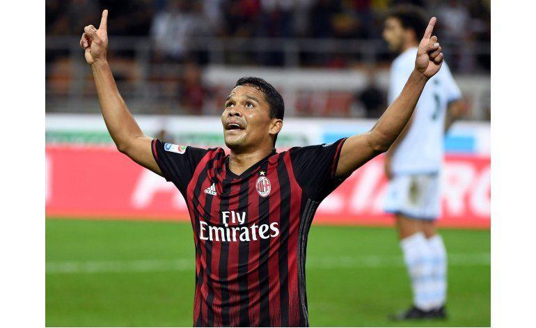 Bacca anota otra vez y el Milan vence 2-0 a Lazio
