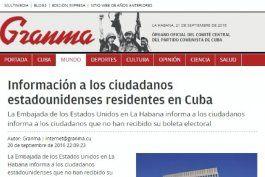 granma convoca a elecciones en eeuu