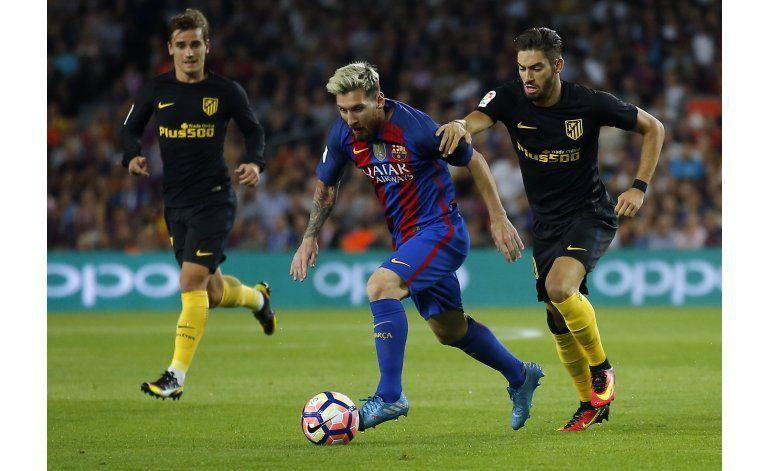 Messi se lesiona ante Atlético y será baja tres semanas