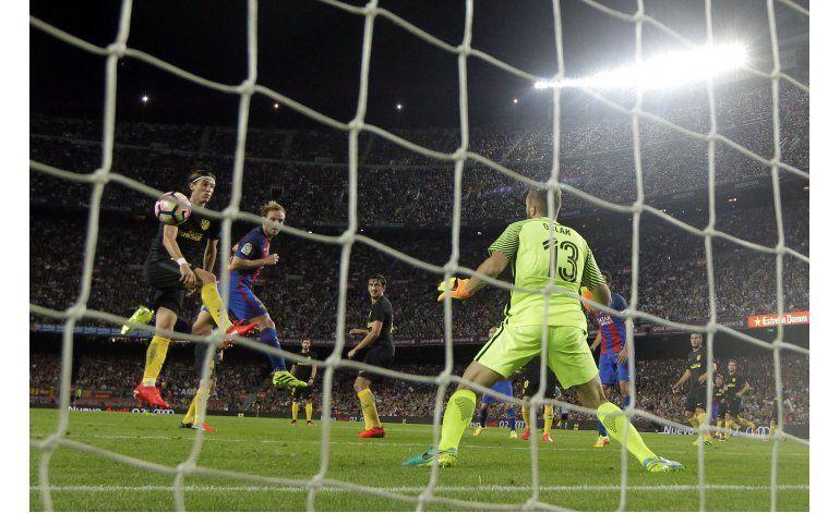 Barcelona pierde a Messi y empata con Atlético