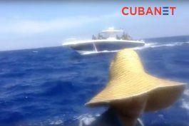 balseros logran filtrar video de su persecucion por guardacostas cubanos