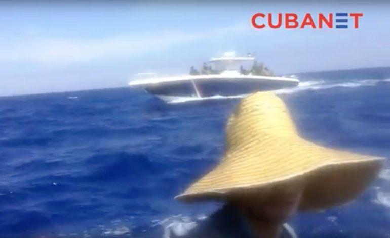 Balseros logran filtrar video de su persecución por guardacostas cubanos