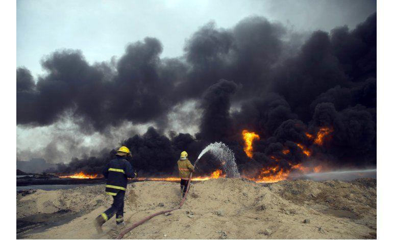 Incendio en campo petrolero de Irak pone en riesgo misiones