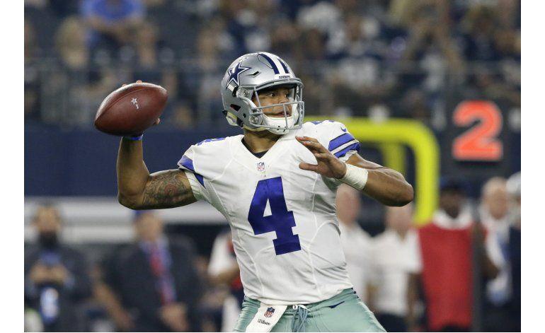 Prescott vuelve a lucir con Cowboys, que vencen a Bears
