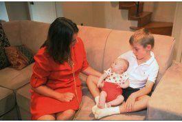 madre descubre el impacto del organo donado de su bebe