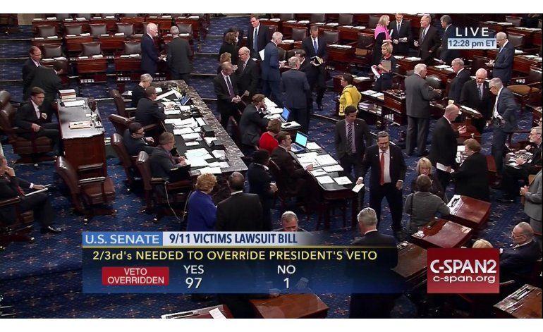 Congreso revierte veto de Obama a ley sobre 11Sep