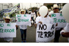 peru: marchan contra edificacion de nicho sendero luminoso
