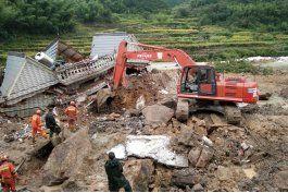 china reporta 6 muertos por deslaves tras paso de tifon