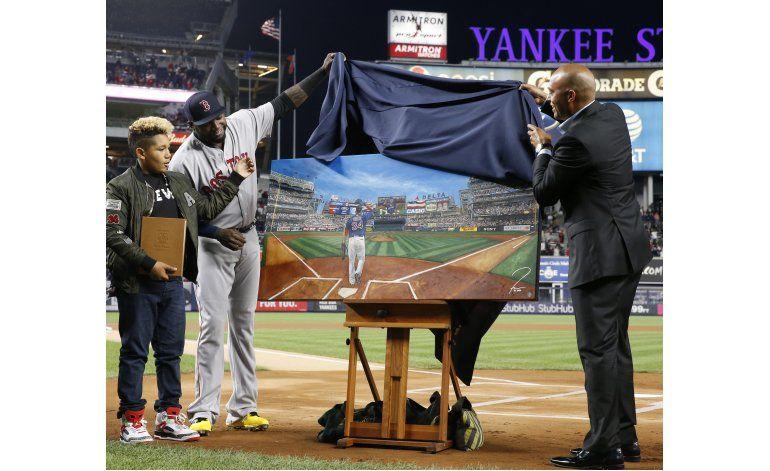 David Ortiz, ovacionado en su adiós al Yankee Stadium