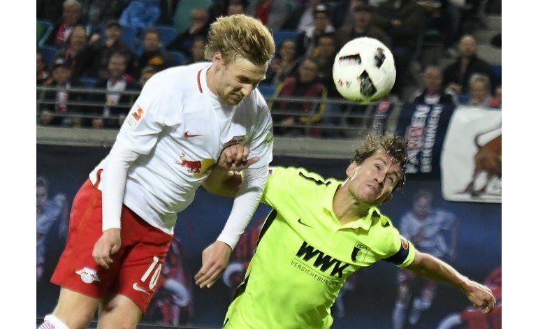 Alemania: Leipzig vence al Augsburgo y es 3ro provisional