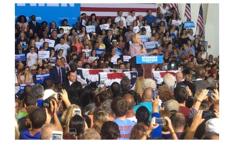 Hillary Clinton visita Miami y honra memoria de José Fernández