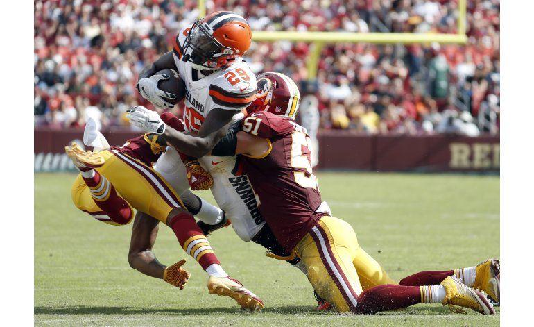 Ofensiva de Redskins despierta en zona roja ante Browns