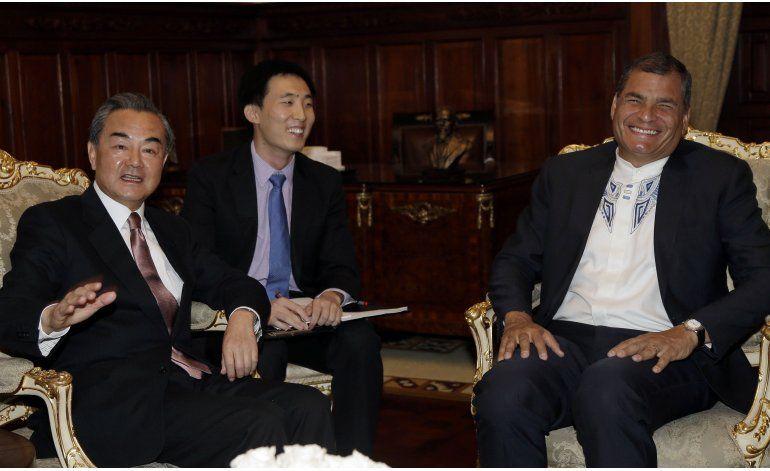 Inédita visita de un canciller chino a Ecuador