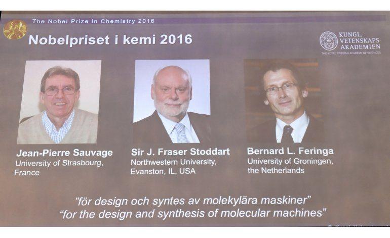 3 comparten Nobel de química por máquinas diminutas
