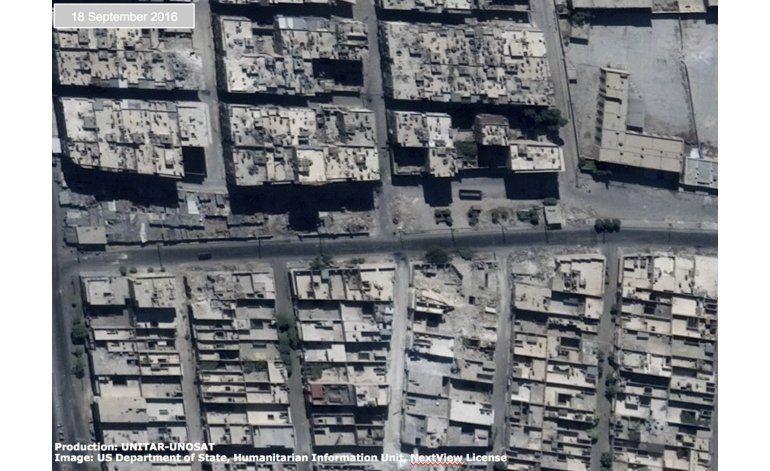 Imágenes de la ONU muestran devastación en Alepo, Siria