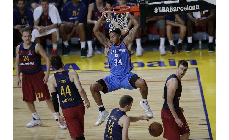 Thunder vence al Barcelona, su 1ra victoria sin Durant