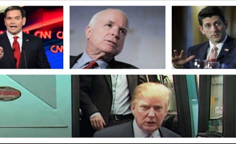 Condena generalizada en el Partido Republicano a los comentarios vulgares de Trump de 2005