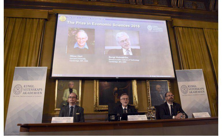 Oliver Hart y Bengt Holmstrom ganan el Nobel de Economía