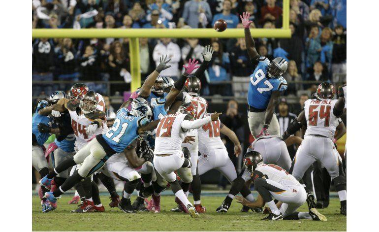 Aguayo da triunfo a Bucs sobre Panthers en el último segundo