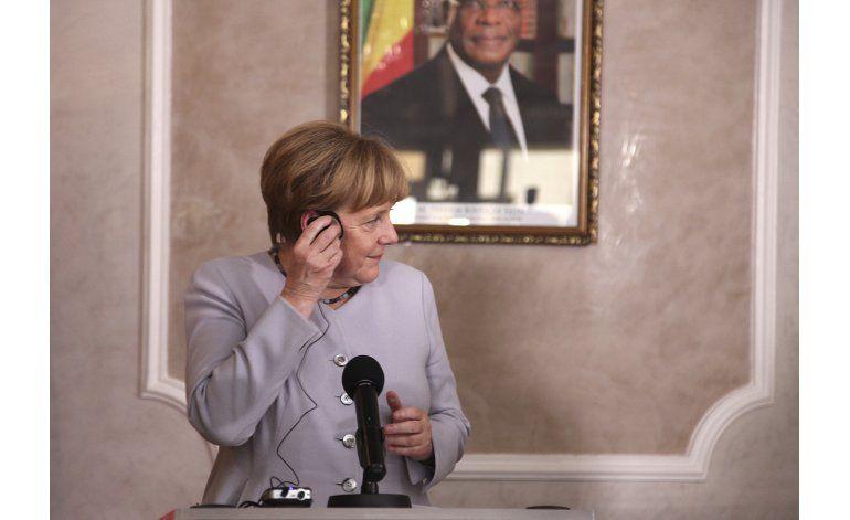 Merkel indica apoyo a manifestantes en Etiopía