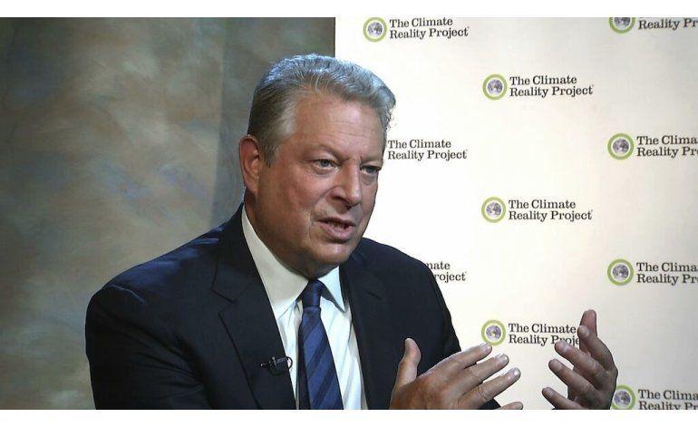 Clinton trae a Gore como cierre de temas de cambio climático