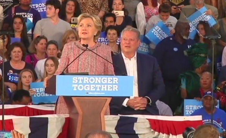 Hillary Clinton y Al Gore visitan Kendall