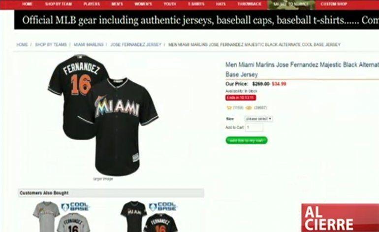 Página falsa vende camisetas de José Fernandez a 30 dólares