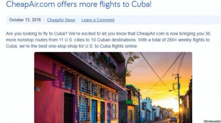 Agencia De Viajes Online Cheapair Com Vende Boletos A Cuba