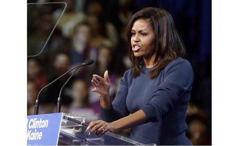 Michelle Obama critica a Trump por comentarios sexuales