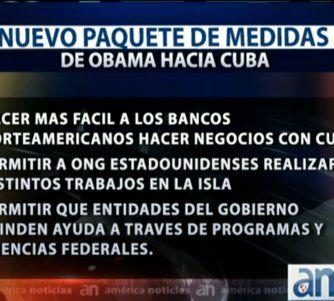 Obama flexibiliza embargo a Cuba