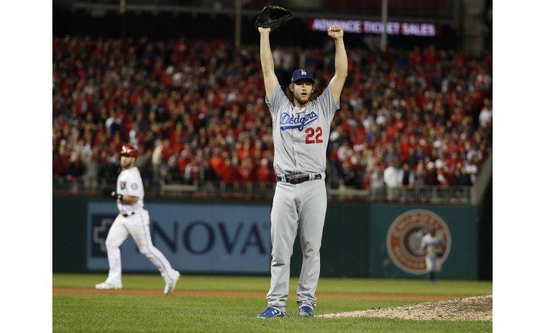 Kershaw soporta tensión; Dodgers van a Serie de Campeonato