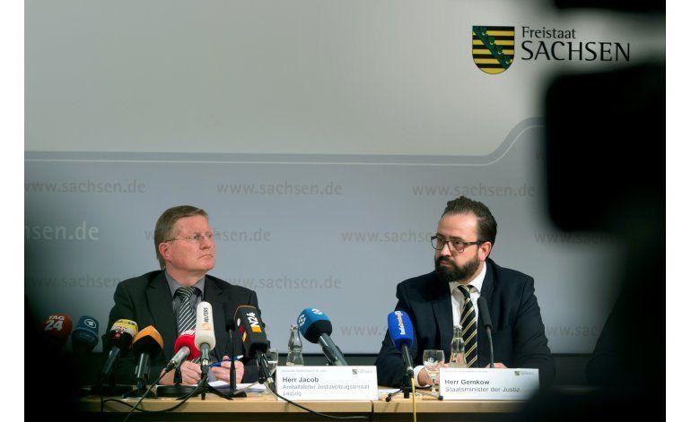 Alemania: autopsia confirma suicidio de sospechoso sirio