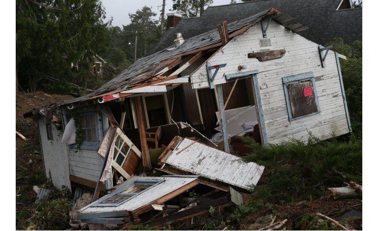 Tornado y lluvias dejan escombros en el noroeste de EEUU
