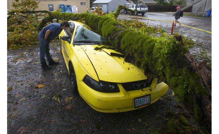 Tormenta derriba árboles y cables de luz en noroeste de EEUU