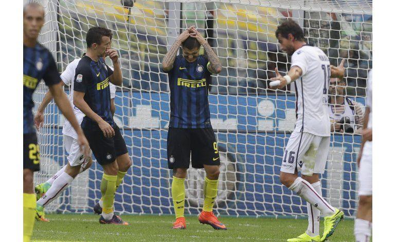 Icardi falla penal e Inter cae ante Cagliari