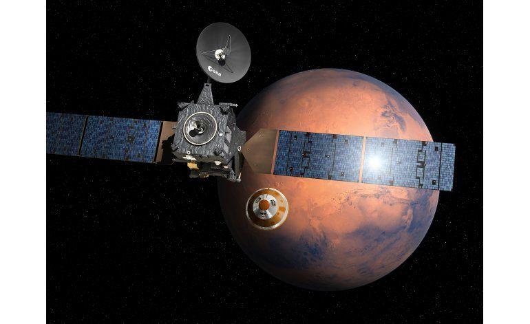 Explorador espacial europeo inicia descenso a Marte