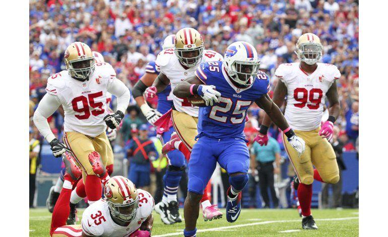 McCoy anota 3 TDs en victoria de Bills por 45-16 sobre 49ers