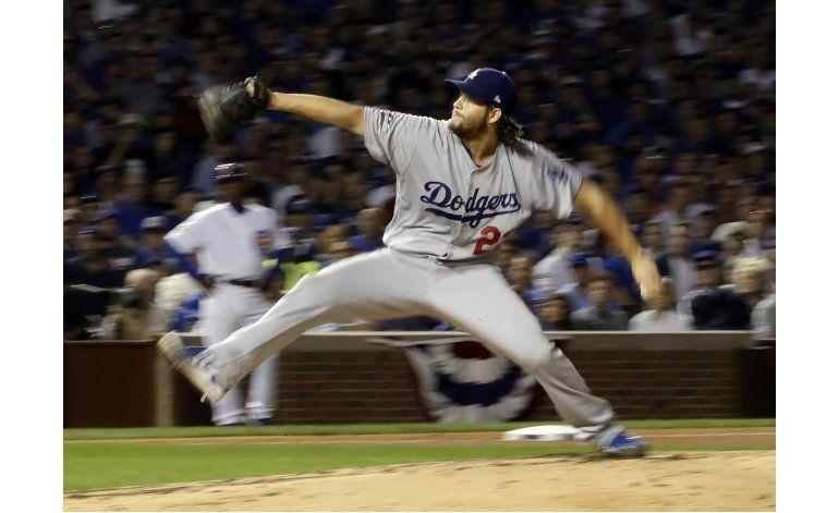 Con un Kershaw magistral, Dodgers blanquean 1-0 a Cachorros