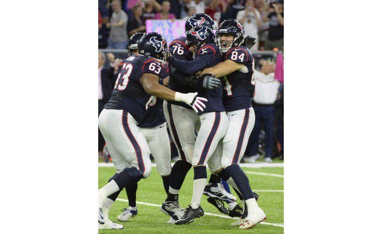 Brock Osweiler lidera una remontada de Texans sobre Colts
