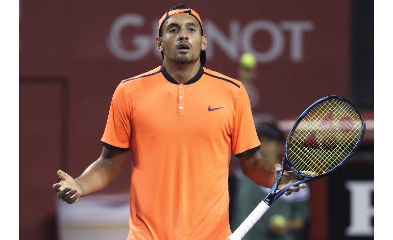 La ATP anuncia sanción y multa para Nick Kyrgios