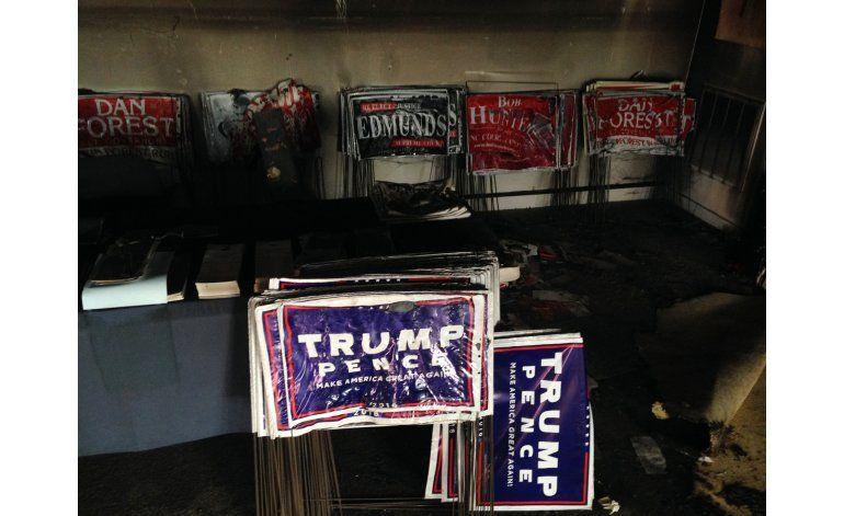 Incendian oficina republicana en North Carolina